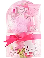 Hello Kitty Kit d'Eau de Toilette + Lotion Corporelle + Gel Douche + Sel de Bain + Éponge 485 ml