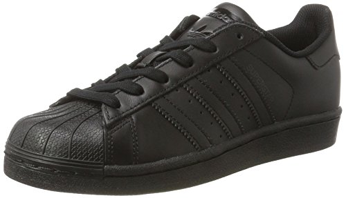 adidas Unisex-Kinder Superstar Foundation Sneaker, Schwarz (Core Black), 38 EU (Adidas Superstar Schwarze)