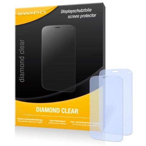 SWIDO 2 x Bildschirmschutzfolie Wiko Darkfull Schutzfolie Folie DiamondClear unsichtbar
