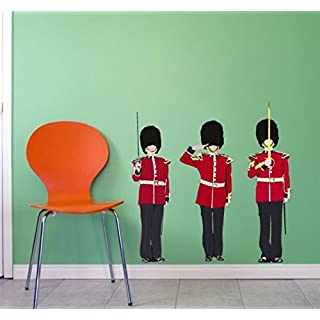 The Queen's Guards Removable Wall Sticker set,Three Queen's guards Large Wall decal, wall graphics