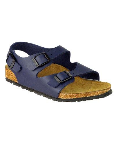 Birkenstock Roma Été Filles Boucle Réglable Sandale Birko-flor Chaussures De Plage Bleu Marine