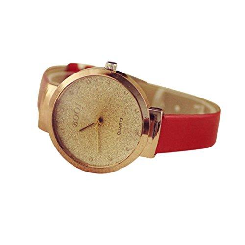 Preisvergleich Produktbild Uhr Damen Uhren DAY.LIN Frau Mädchen Luxus Sand Sternenklar einfache Temperament Quarzuhr (Rot)