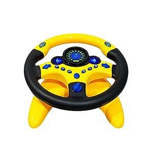 Amhomely® 2019 Kinder-Copilot-Simulationsautolenkrad/Autozubehör/Kinderauto Spielzeug – Kid Copilot Simulierte Lenkradrennfahrer Toy Educational Sounding