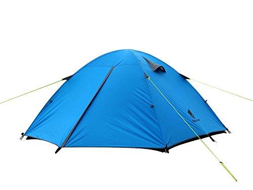 GEERTOP® 3-person 3-Jahreszeiten Aluminiumstangen wasserdichtes Camping Kuppelzelt(180 x 210 x 120 cm), Ideal für Camping, Klettern, Jagen (Blau)