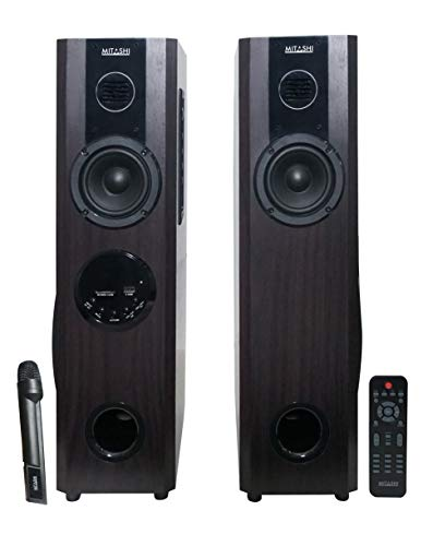 Mitashi TWR 60 Fur 2.0 Channel 5000 Watts PMPO Tower Speaker with Bluetooth (Black)