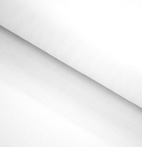 Robert Kaufman Kona Cotton (Kona Cotton Solids by Robert Kaufman Bolzen, 9,1 m, Weiß)