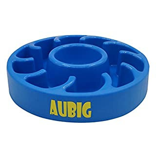 AUBIG Slow Feeder Dog Bowl Fun Feeder for Cats, Pet Skid Stop Slow Feed and Water Dog Bowls Blue