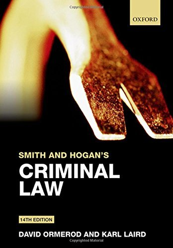 Smith and Hogan's Criminal Law by David Ormerod (2015-08-04)