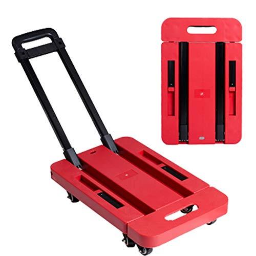 Trolley-Taschenwagen, Einkaufswagen Einkaufswagen Gepäckwagen Folding Load 200kg Multifunktionale Große 6 Räder 2 Farboptionen (Farbe: D) (Farbe : D) (Folding 2-rädern Walker)