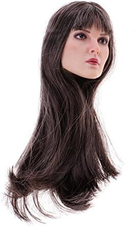 B Baosity 1/6 Scale Tête Sculpture Cheveux Longs Longs Longs OrneHommes t pour 12'' Figurine Action | Pas Chers  fa7370