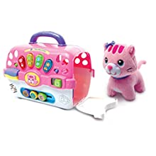 VTech Cosy Kitten Carrier Interactive Toy, Baby Activity Center with Animal Baby Toy, Educational Baby Musical Toy, Sound Toy with Different Music Styles for Babies & Toddlers From 9 months to 3 Years