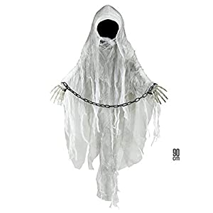 WIDMANN?espectro sin rostro con esposas Unisex-Adult, blanco, talla única, vd-wdm01394