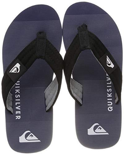 Quiksilver Jungen Molokai Layback Sport Sandalen, Schwarz (Black Grey Xkss), 28 EU (Jungen Sport Sandalen)