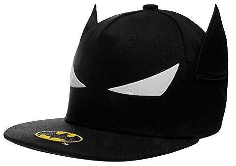 Junior Boys Branded Character Snapback Flat Peak Baseball Cap Headwear (Junior, Batman)