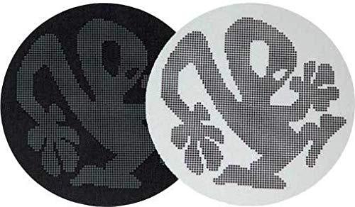 slipmat-Factory Plasticman Schwarz/Weiß Dots Slipmat, 2 Stück