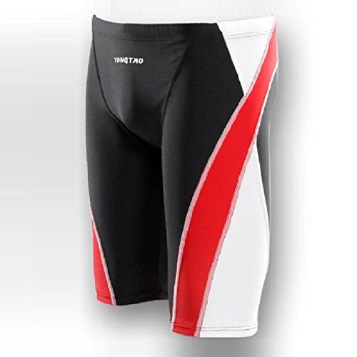 LJ&L Männer athlet Profi Swim Hosen Shorts, Mode Badeanzug schnell trocknenden Badeanzug, bequeme atmungsaktive enge Swim Shorts A