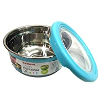Winsor Plastic And Stainless Steel Food Container 220 ml, Blue