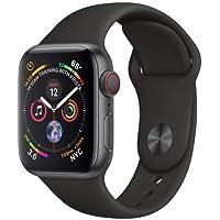 AppleWatch Series4 - Reloj inteligente (GPS+cellular) con caja de 40mm de aluminio en gris espacial y correa deportiva negra