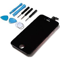 LL TRADER pour iPhone 4 Noir LCD Afficher Assemblée Écran Tactile Pièce de Rechange de Numériseur + Outils