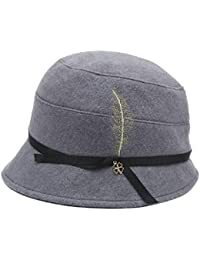 Cappello Femminile Autunno e Inverno Berretto di Lana Inghilterra Caldo ed  Elegante Pescatore Moda Casual Invernale c4d91a9b92d2