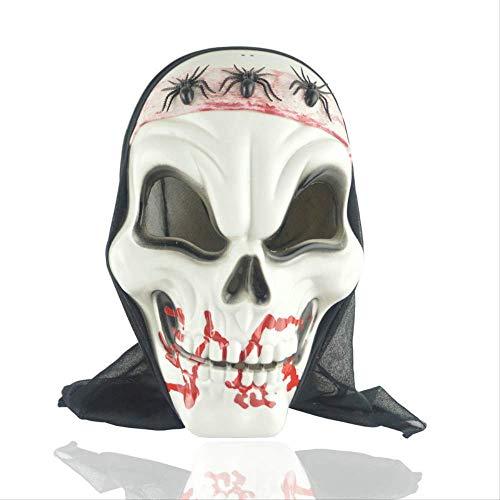 Fantome Halloween Kostüm - TAOZYY Halloween Kostüm Party Masque D'Horreur Festival De Fantômes Couvre-Chef Cos Dress Up Bar Ktv Activité Masque Grimace Masque Araignée