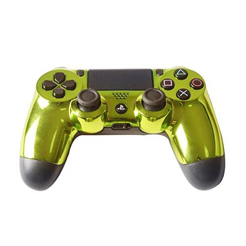 Controller Front Shell für Sony PS4 Controller - Case für Playstation 4 Controller Dualshock 4 Shell Ersatz - Custom Cool PS4 Controller Shell Fall Deckung PS4 Controller Shells - Chrome Green