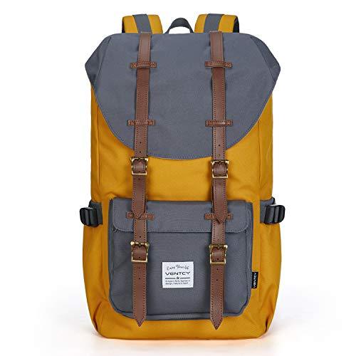 VENTCY Rucksack Damen 15 Zoll Laptop Rucksack Herren Vintage Rucksack Uni Daypack Wasserabweisend Backpack für Freizeit Outdoor Reise