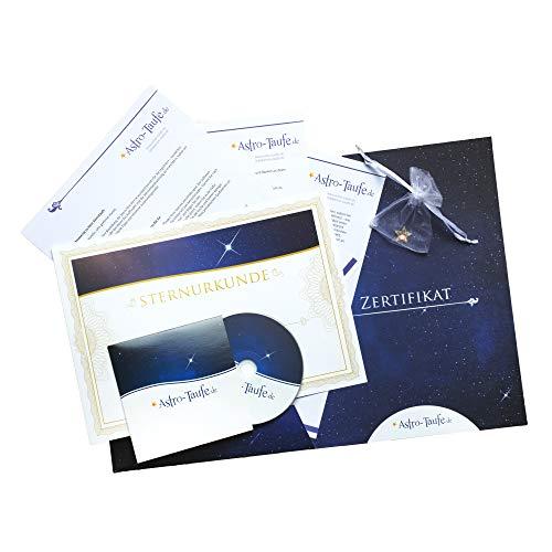 Echte Sterntaufe in Geschenkmappe - inkl. 3x personalisierbarem Sterntaufzertifikat - Komplettpaket - Luxus Stern kaufen & verschenken