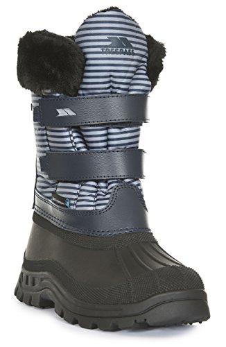 Trespass Unisex-Kinder Vause Schneestiefel, Blau (Navy Stripe), 34 EU (Schuhe Kinder Trim Navy)