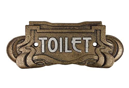 zeitzone Türschild Toilet Gusseisen Bronze WC-Schild Belle Epoque Toilettenschild Antik-Stil -
