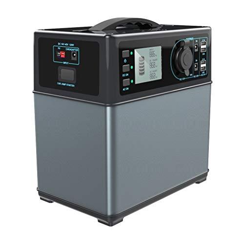 PowerOak PS5 generatore solare portatile batteria agli ioni di litio a 400Wh / convertitore CA a onda sinusoidale pura 300W / 12V CC / quattro uscite 4 x USB / solare massima di 120W / peso 5,6kg / avviatore d'emergenza per auto