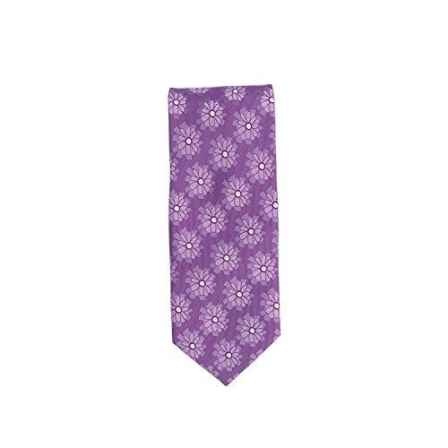 Silk Ties classico cravatta seta floreale viola 8