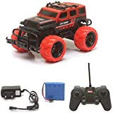 The Flyer's Bay Big And Mean Rock Crawling 1:20 Scale Modified Hummer RC Car/Monster Truck (Red)