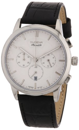 Dugena Herren-Armbanduhr Chronograph Quarz Leder 7000090
