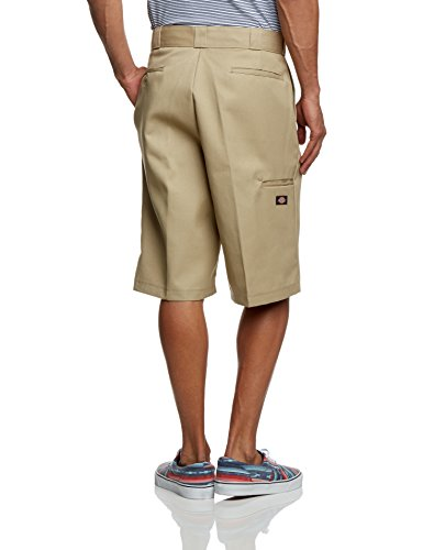 Dickies Herren Sport Shorts Streetwear Male Shorts 13 Zoll Multi-Pocket Work Grün (Khaki)