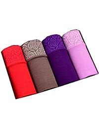 yutu 4 Cargados, Bragas Femeninas Modal tamaño Grande Cintura de Las Mujeres Escritos algodón Cintura