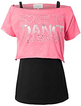 Las niñas Danza camisetas chalecos de doble capa amor a la danza Tops By Brody y Co®