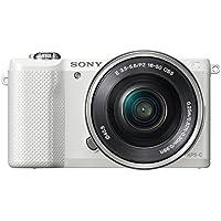 """Sony Alpha-5000 - Cámara EVIL de 20.1 Mp (pantalla articulada 3"""", estabilizador, vídeo Full HD, WiFi), blanco - kit con objetivo 16-50mm f/3.5 OSS"""