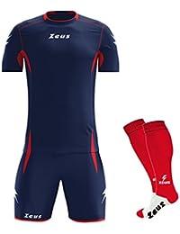 Zeus Kit Sparta Manica Corta COMPRESO di Calza Completo Completino Calcio  Calcetto Maglietta E Pantaloncino Sport 8e920e0fe288