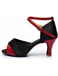 HROYL Zapatos de baile/Zapatos latinos de satín mujeres ES7-F21