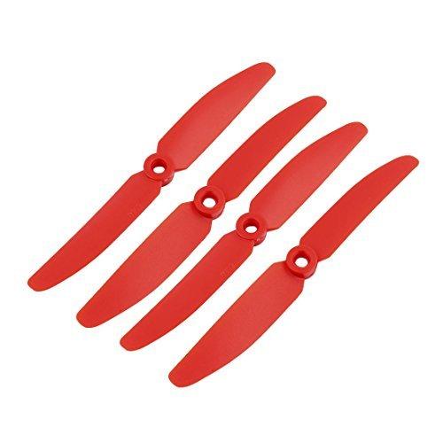 DealMux 2 Paires Rouge Plastique RC Airplane Prop Hélice Paddle 5030 + Anneau Adaptateur Arbre