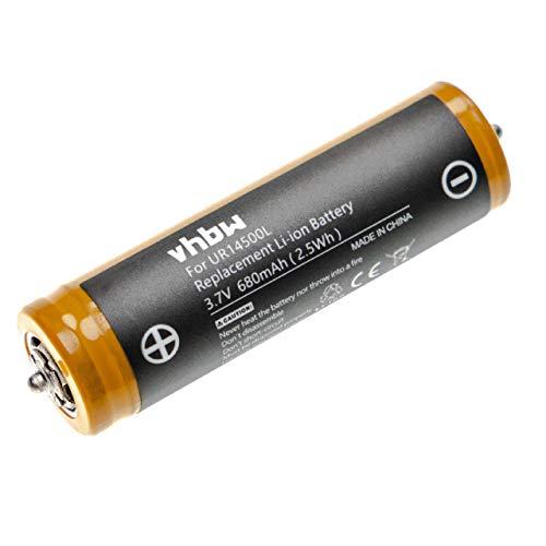 vhbw Akku passend für Braun Series 5 530, 550, 550s-3, 550s-4, 560, 560s-3, 560s-4, 570cc, 570cc-3 Rasierer Haarschneider (680mAh, 3.7V, Li-Ion)