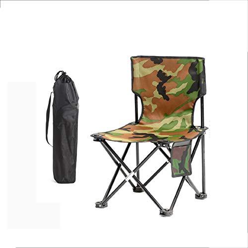 YUWJ Camping hocker Falten tragbare licht Camp hocker im freien billig tragbaren klappstuhl geeignet für Strand Grill Reise Picknick,G,Small