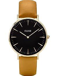 Cluse Reloj Analógico para Hombre de Cuarzo con Correa en Cuero CL18420 b6e35052377d