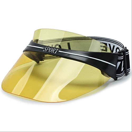Snapback Summer Fashion Women Men Summer Hats Strawats Für Frauen Sonnenbrillen PVC Top Sun Visor Hat Transparent Sunhat Beach Visor Cap gelb