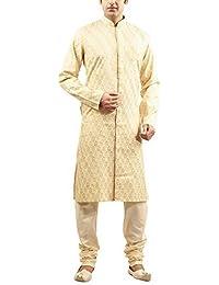 Manyavar Men's Cotton Kurta Pyjama