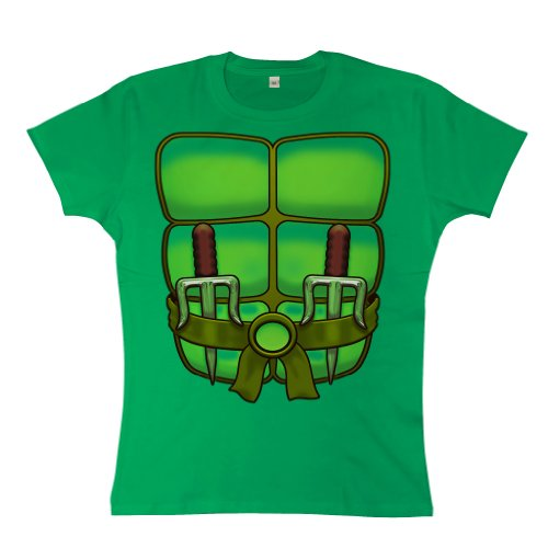 (Refugeek Tees - Damen T Shirt - Turtle - Small (8-10) - Kelly Green)