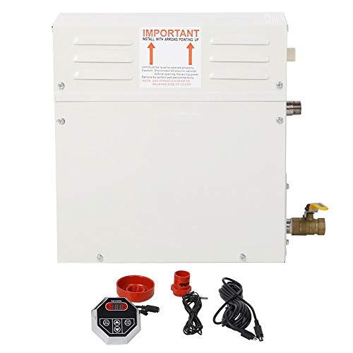 Generatore di vapore 6k 220-380v sauna steamer, temperatura display led e tempo, 35-55 ° c (95-131 ° f) impostazione automatica della temperatura con controller digitale