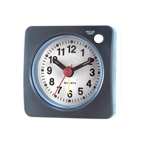 Homyl Nuevo Mini Reloj Despertador Viaje Luz Sonido