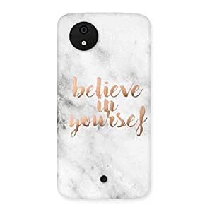 Premium Believe Your Self Printed Back Case Cover for Micromax Canvas A1